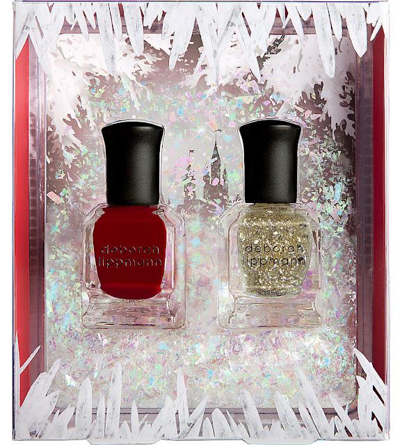 deborah lippmann nail polish set, deborah lippmann ice queen polish set, deborah lippmann red glitter polish,