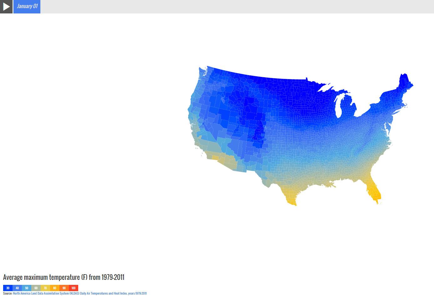 U.S. Average Temperatures