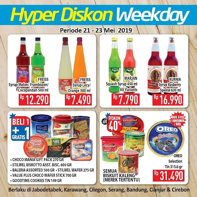 #Hypermart - #Promo #Katalog Weekday Periode 21 - 23 Mei 2019