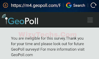 Get free survey without Geopoll app
