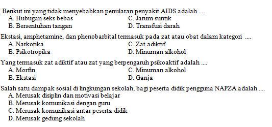 Kisi Kisi Soal Dan Kunci Jawaban Penjas Smp Kelas 8 Semester Genap Kurikulum 2013 Didno76 Com