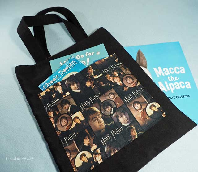 Make a Harry Potter book bag or Library Bag ~ Threading My Way