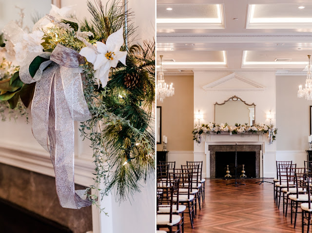 Christmas Themed Wedding at The Tidewater Inn in Easton, MD photographed by Maryland Wedding Photographer Heather Ryan Photography