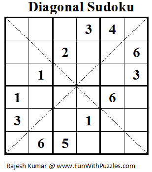 Diagonal Sudoku (Mini Sudoku Series #17)
