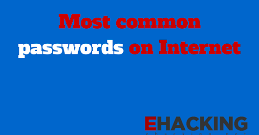 The most commonly used passwords on the internet - Research