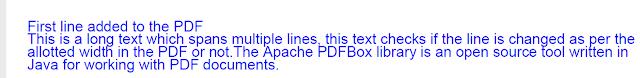 PDF in Java using PDFBox