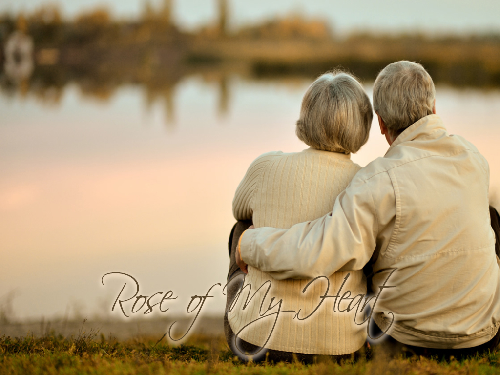 Love Couple Sitting Beside the Rive Rose Of My Heart