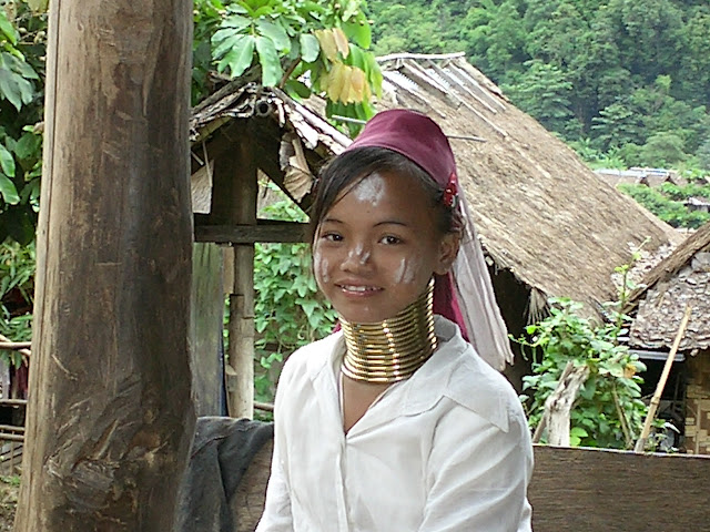 Karen Longneck girl in Mae Hong Son