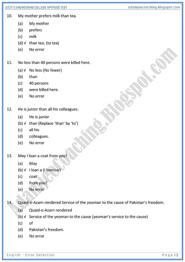 ecat-english-error-detection-mcqs-for-engineering-college-entry-test