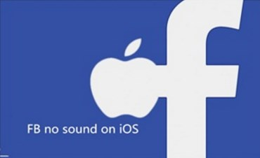 facebook videos no sound iphone