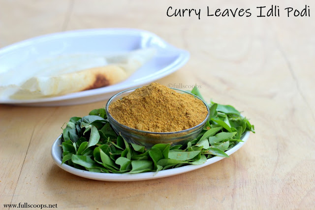 Curry Leaves Idli Podi