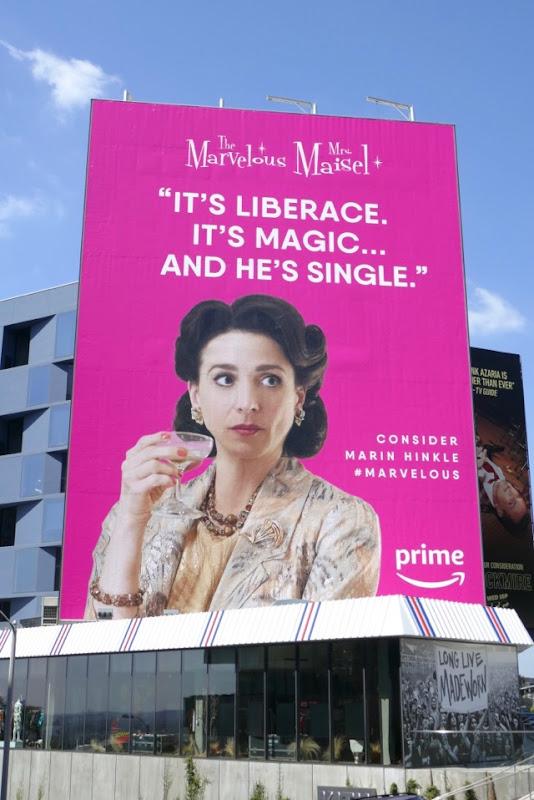 Mrs Maisel Liberace Marin Hinkle Emmy FYC billboard