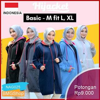 NAG025 Jacket Premium Edition Jaket Hoodie Wanita Hijab Murah Bmgshop