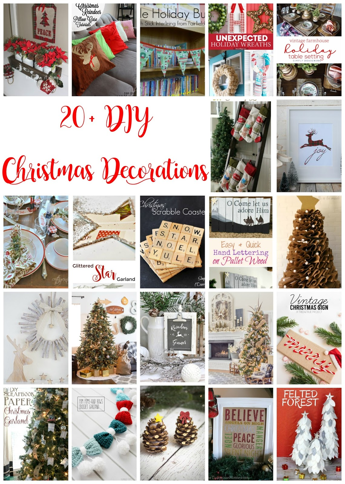 20+ DIY Christmas Decoration Ideas