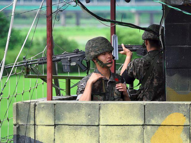 Lính Hàn Quốc chết do trúng đạn ở biên giới với Triều Tiên