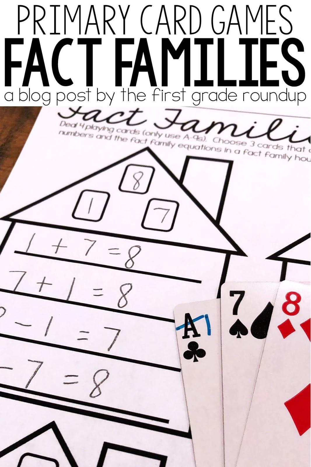 Fact Family Math Card Game