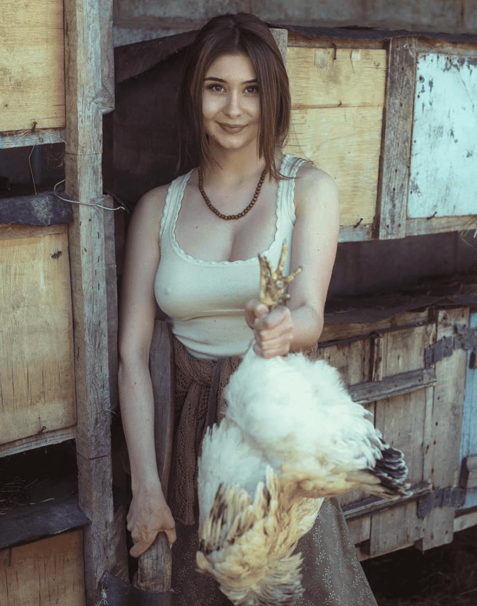 A beleza rural da mulher eslava