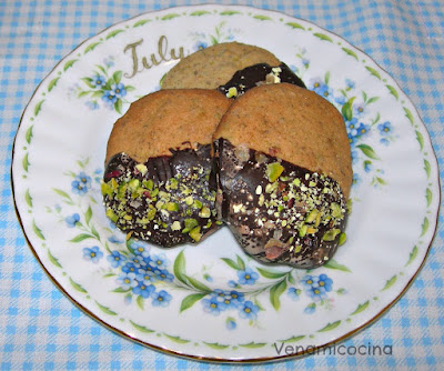 Galletas de pistacho y chocolate