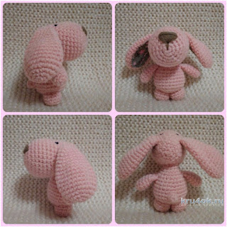 patron amigurumi perrito rosa handmade base