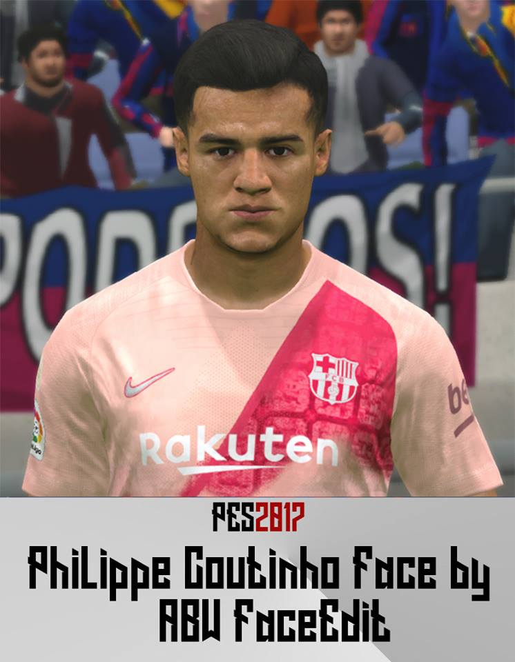 PES 2017 Coutinho face by ABW_FaceEdit