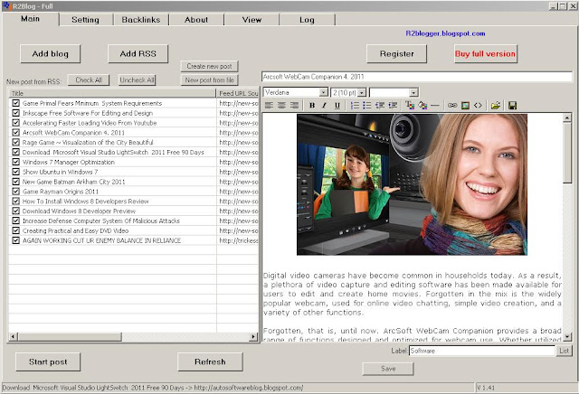 R2blog auto post for blogger from RSS version 1.48