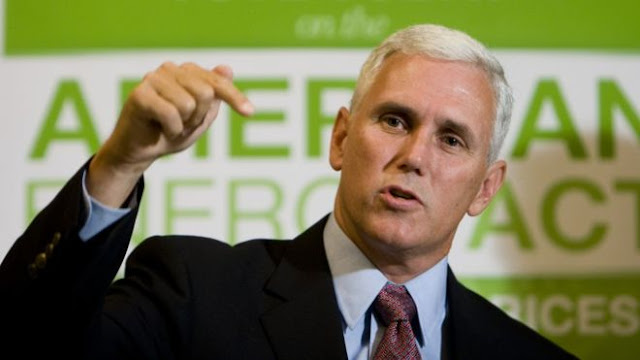 Mr Pence is the governor of Indiana