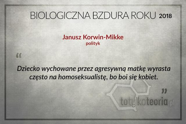 Janusz Korwin Mikke Biologiczna Bzdura Roku 2018