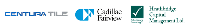 Cadillac Fairview Corporation Limited, Centura Floor & Wall Fashions, Heathbridge Capital Management.