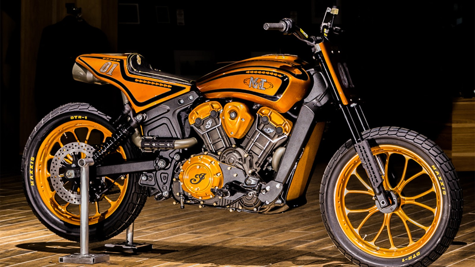 Racing Caf Indian Scout Midwest Urban Dirt Tracker