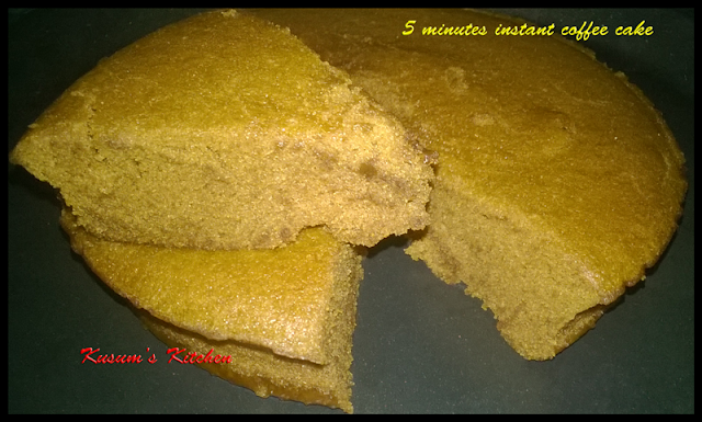 5 Minute Coffee Cake in Microwave