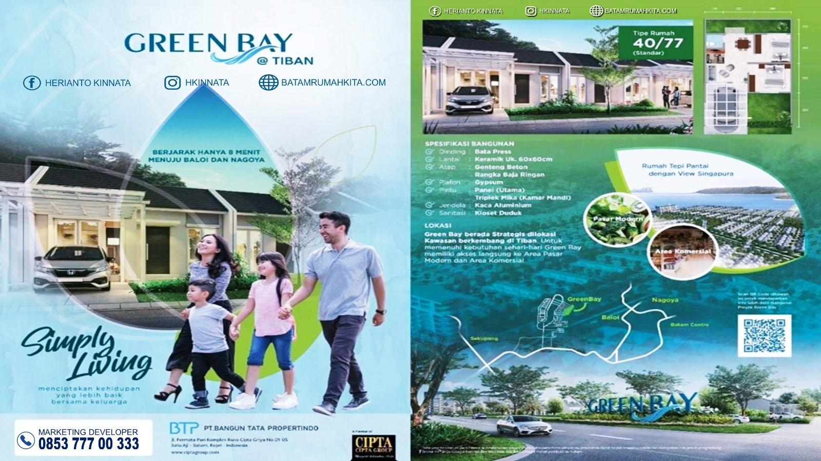 Perumahan baru Green Bay Tiban Batam