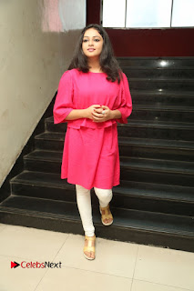 Actress Arundathi Nair Stills in Red Chididar at Bethaludu Success Meet  0133.JPG