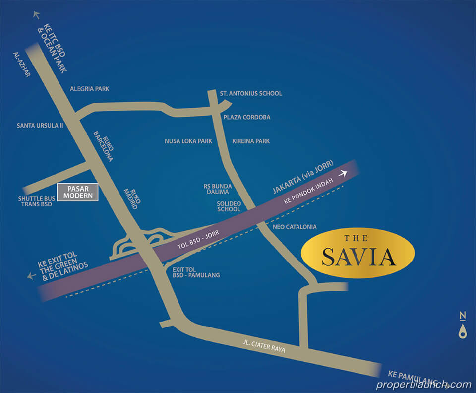 Lokasi The Savia BSD