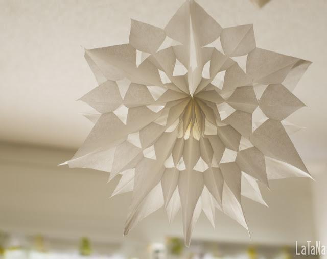 Papierstern, Weihnachtsstern