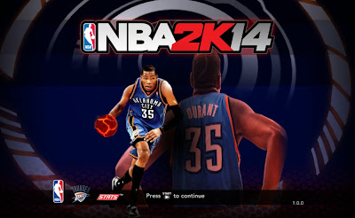 NBA 2K14 Thunder's Kevin Durant Title Screen Mod