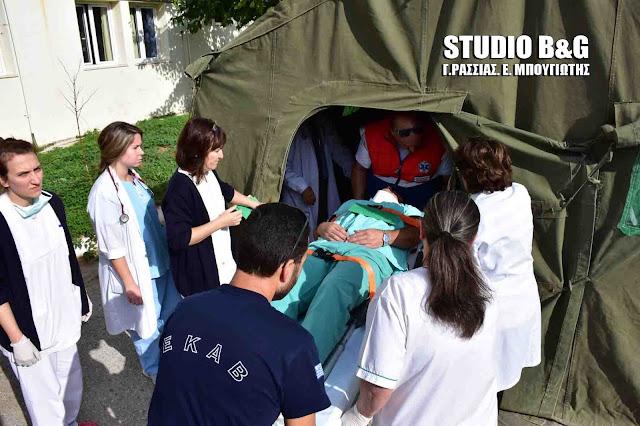Η ετοιμότητα του προσωπικού συνέβαλλε σημαντικά στην επιτυχία των ασκήσεων στα Νοσοκομεία Άργους και Ναυπλίου