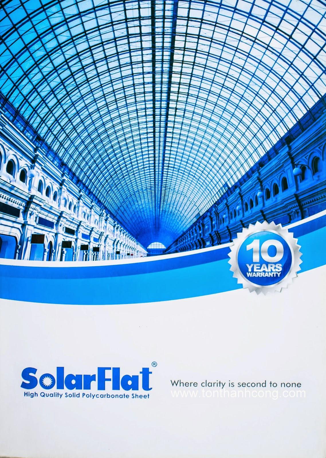 Catalogue Tấm Lấy Sáng Polycarbonate Đặc Ruột SolarFlat - Trang 1
