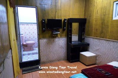 kondisi kamar di homestay dieng plateau