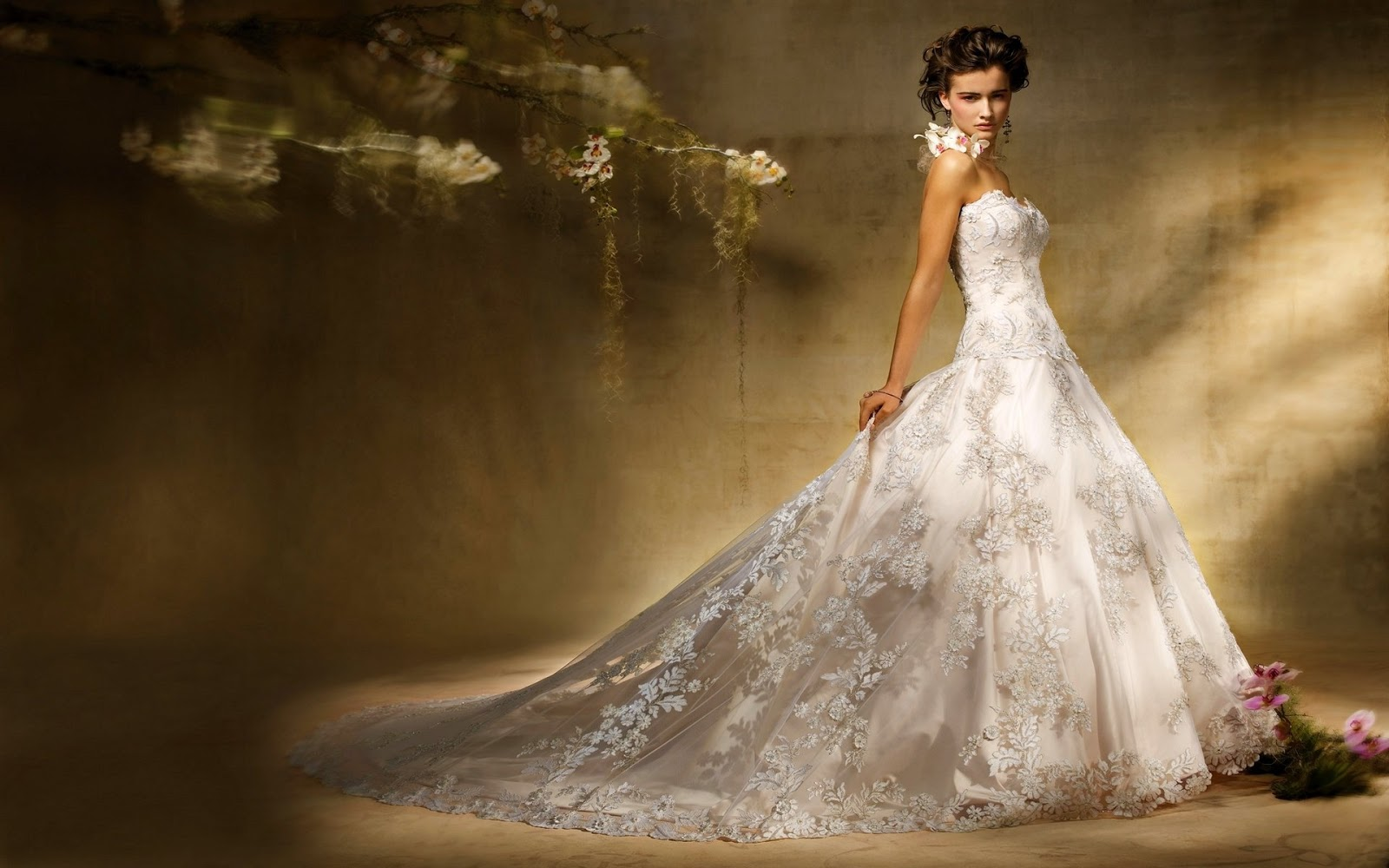 Wedding Gowns Pic: Gallery Of Wedding Dress: White-Lace-Wedding-Dresses-2013