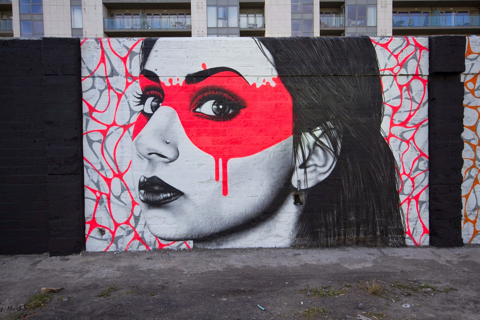 Our friend Fin DAC is currently in Ireland where he spent the last week working on this 12ft high by 150ft long wall on the streets of Dublin.