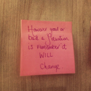 Situations Will Change Post it note