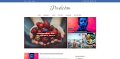 Perfection Blogger template, responsive Blogspot theme