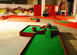 Chrizy Golf pop-up minigolf course in Manchester
