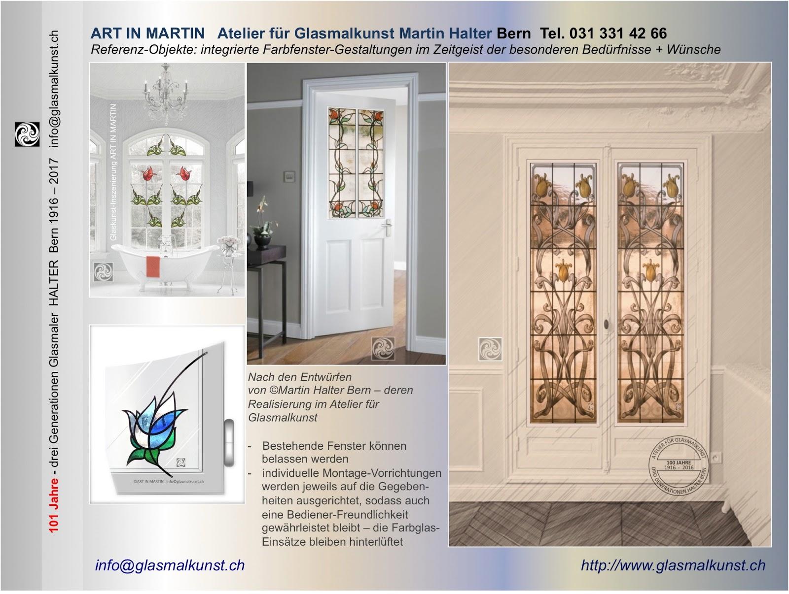 Architektur: mit Farbfenster im Interieur - Berner Glaskunst-ATELIER ...