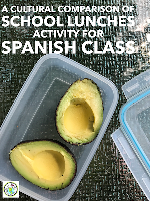 Cultural Comparison of School Lunch Activity For Spanish Class