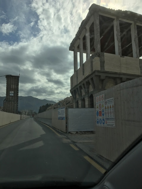 A street in Amatrice, Italy still showing the destruction after the 2016 earthquake.