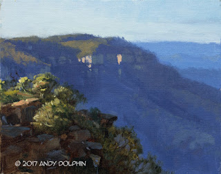 Devils Hole plein air oil painting by Andy Dolphin.