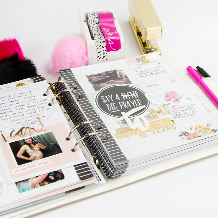 Heidi Swapp Memory Planner inspirational pages by @createoften