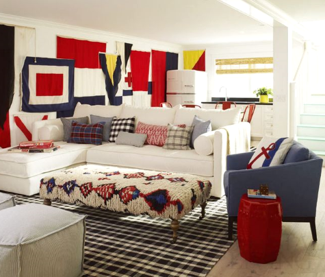 nautical flag wall