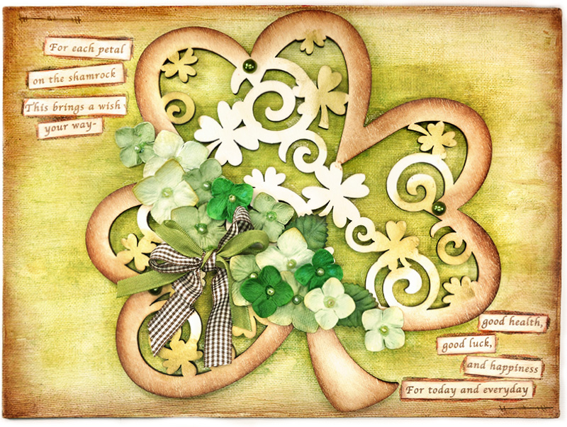 Scrap Escape Wishing You Luck For St Patrick 39 S Day Canvas Home Decor